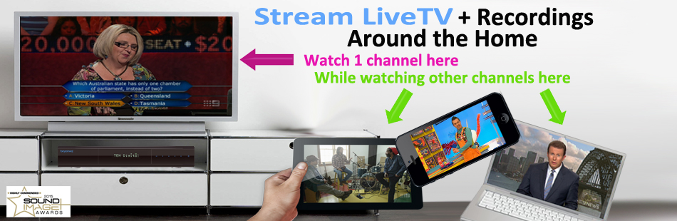 Stream LiveTV + Recordings